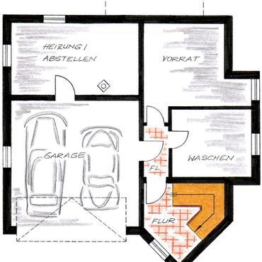 Integrierte Garage